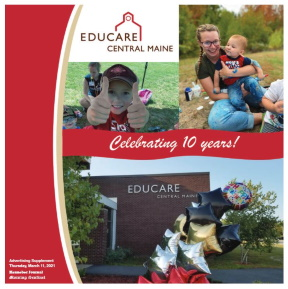 Educare Central Maine 10th Birthday insert in local paper